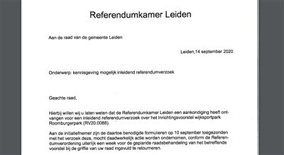 Oproep voor referendum over Roomburgerpark